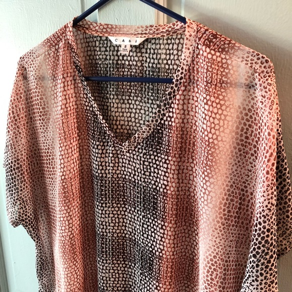 CAbi Tops - CAbi patterned top, size small